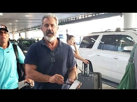 Mel Gibson Is Wished A Happy Father's Day At LAX