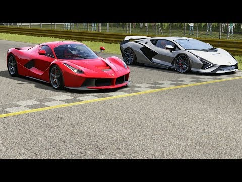 Ferrari LaFerrari vs Lamborghini Sian at Monza Full Course