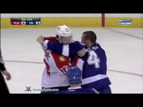 Lecavalier and Petrovic go at it