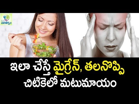 Migraine Headache Relief Easy & Naturaly - Mana Arogyam   Telugu Health Tips