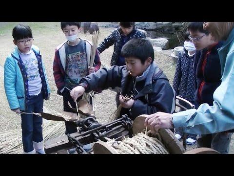 昭和の暮らしを体験 淡路市の小学生