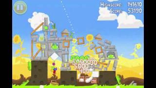 Angry Birds Seasons Summer Pignic Level 19 Walkthrough 3 Star