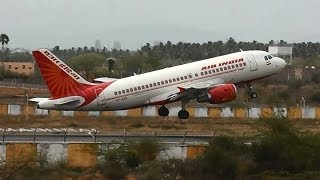 Madurai India  City new picture : Air India Airbus A319 departs Madurai for Chennai (VT-SCW)