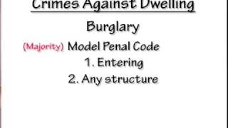 Crimi Law Bar  9: Crimes Against Dwelling Or Habitation