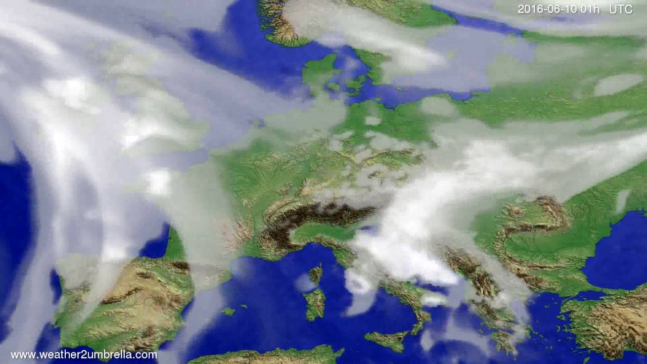 Cloud forecast Europe 2016-06-07