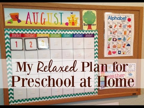My Relaxed Plan for Preschool at Home
