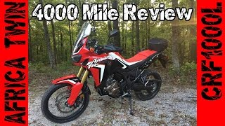 9. Honda AFRICA TWIN CRF1000L 4000 Mile Review