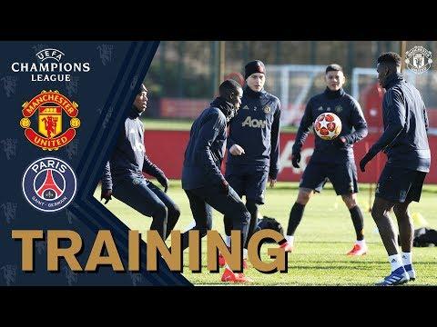 Manchester United train ahead of Paris St-Germain UEFA Champions League clash