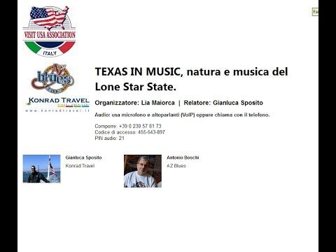 Video TEXAS IN MUSIC, natura e musica del Lone Star State. (11-5-2017)