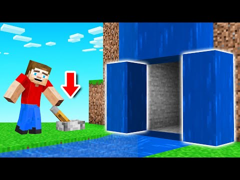 Only 1% PLAYERS Can FIND This SECRET ENTRANCE! (Minecraft)