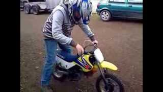 10. James On His Suzuki JR 50