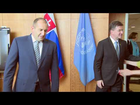Meeting of President Rumen Radev with President of the UN General Assembly, Miroslav Lajcak.