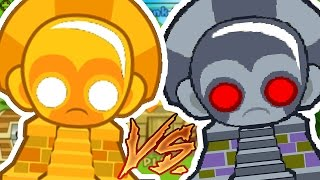 EXPERIMENT SUN GOD VS ROBO MONKEY (TECHNOLOGICAL TERROR) CHALLENGE - BLOONS TOWER DEFENSE 5
