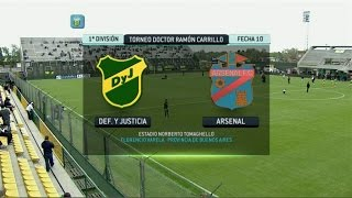 Fútbol En Vivo. Defensa - Arsenal. Fecha 10. Torneo Primera División 2014. FPT.