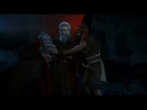 Moses Breaks the Tablets - The Ten Commandments 1956