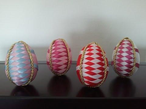 patchwork - uova di pasqua con nastrini
