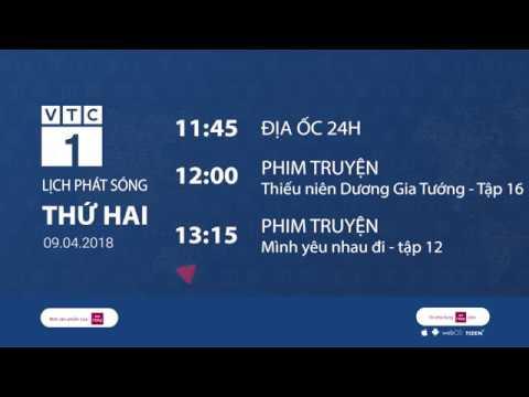 Lịch phát sóng VTC1 ngày 9/4/2018 | VTC1 - Thời lượng: 116 giây.