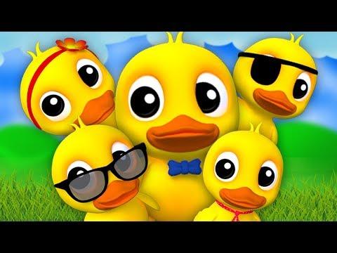 Fünf kleine Enten | Kinderreime | Kinderlieder | Five Little Ducks | Kids Baby Club Deutschland
