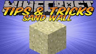 Minecraft Tips and Tricks - Sand walls - Hidden Messages in the end of custom maps
