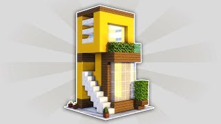 HOW TO MAKE A MINI MODERN HOUSE 5x5 EASY IN MINECRAFT | ENGLISH TUTORIAL