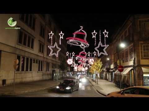 Iluminações da Natal já brilham em Guimarães