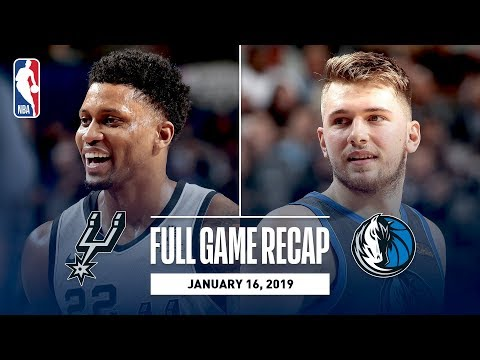 Video: Full Game Recap: Spurs vs Mavericks | Luka Doncic's 5th Straight 25+ Point Game