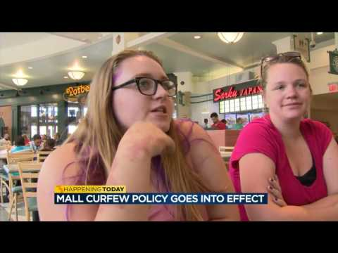 Mixed reactions from mall shoppers as youth escort, curfew policy take effect