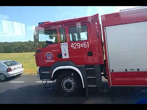 Wideo: Wypadek na trasie Jerzmanowa - Głogów