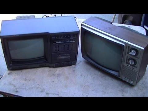 Two Retro Portable Televisions