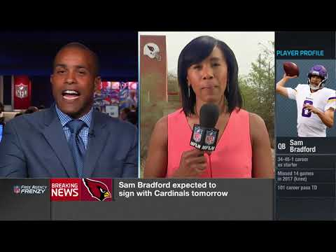 Tiffany Blackmon explains why the  Cardinals think so highly of quarterback Sam Bradford  | Mar 13