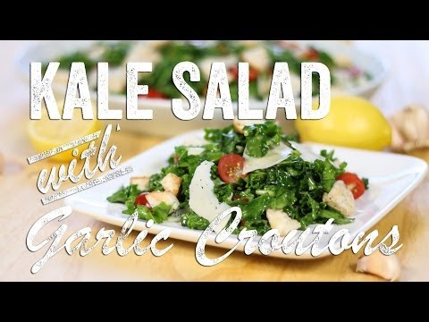 Kale Salad with Garlic Croutons Recipe: Bits & Pieces - Season 1, Ep. 5