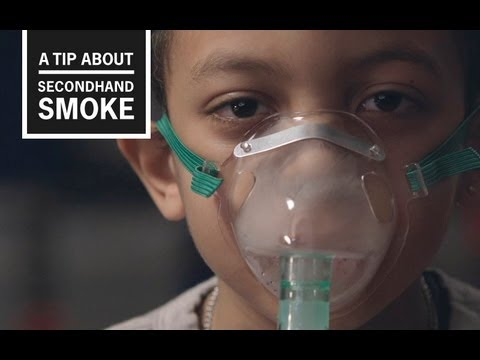 Exposure to secondhand smoke can trigger a life-threatening asthma attack. This TV ad, from CDC's Tips campaign, features Jessica, a mother with a young son who suffers from asthma attacks due to secondhand smoke exposure. In her tip, she urges people not to be shy to tell people not to smoke around kids.