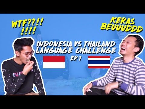 LANGUAGE CHALLENGE EP.1 | INDONESIA VS THAILAND W/ TIDDY