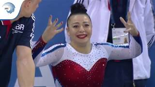 UEG Official – 7th European Men's and Women's Artistic Gymnastics Championships – Cluj Napoca (ROU), April 19-23, 2017. Claudia Fragapane (GBR), Qualifications Floor: 13.766 (Difficulty : 5.500 ; Execution : 8.266), 2nd qualification score; Follow the European Union of Gymnastics on its channels to stay up to date with their latest news!