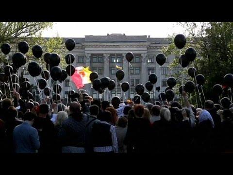 Οδησσός: Ένταση στη συγκέντρωση μνήμης για τα θύματα της 2ας Μαΐου 2014