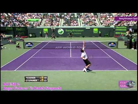 Roger Federer ante Radek Stepanek en Miami 2011