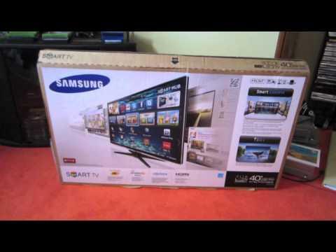 Samsung 40 LED 1080P SMART TV Unboxing & Review