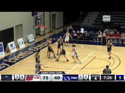 2015-02-07 TWU Women's Basketball Highlights vs Winnipeg