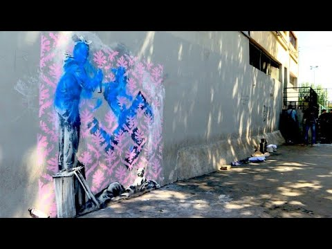 Street-Art-Kunst in Paris: Banksy stichelt gegen Fl ...