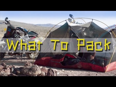 What to Pack for a Motorcycle Adventure Trip - MotoGeo Review