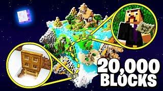 I walked 20,000 Minecraft blocks and found a secret BASE hidden in the wild