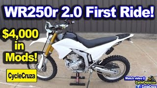 9. WR250r 2.0 First Ride!  $4,000 in Mods Worth it? | MotoVlog