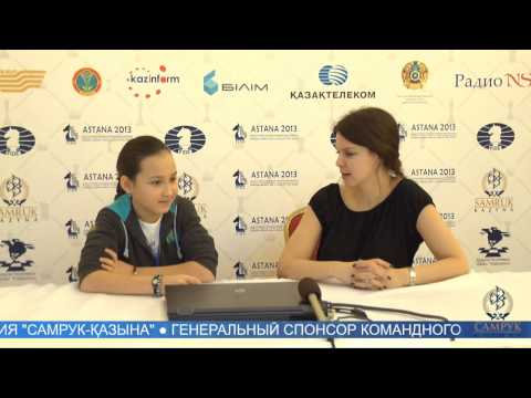 Командный чемпионат мира по шахматам. Интервью Жансаи Абдумалик