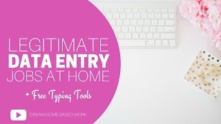 Anyone looking for a legitimate data entry job? All of these data entry jobs are for beginners looking for work from home. You can apply for these data entry jobs with absolutely no fees! See the full list of legitimate online data entry jobs on my bloghttp://www.dreamhomebasedwork.com/online-data-entry-jobs-2.htmlHOT VIDEO TOPICS5 Online Transcriptions Jobs - No Experiencehttps://www.youtube.com/watch?v=L-jq6_MasJ4&t=12sWhere To Find Non Phone Jobshttps://www.youtube.com/playlist?list=PLHeYJU6HrYnA80tJvfg4w_xFsmWWgL_9HFollow Me AroundFACEBOOK: https://www.facebook.com/DreamHomeBasedWorkTWITTER: https://twitter.com/dhbw_fansPINTEREST: http://www.pinterest.com/legitworkathome/