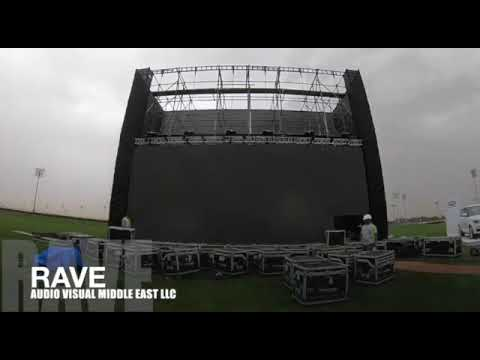 Rave Audio Visual Set-up DWC