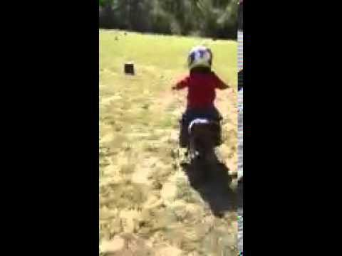training wheels off dirt bike!