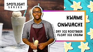 Dry Ice Root Beer Float l Spotlight-Kwame Onwuachi by Tastemade