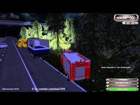 LS11 Feuerwehreinsatz Verkehrsunfall auf Autobahn