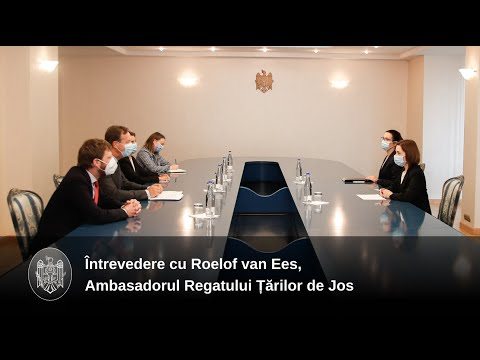 Președintele Maia Sandu a discutat cu Ambasadorul Regatului Țărilor de Jos