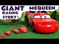 Disney Cars Toys GIANT McQueen Race Set with Hot Wheels Avengers Batman & Superman TT4U